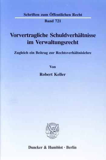 Cover: Vorvertragliche Schuldverhältnisse im Verwaltungsrecht