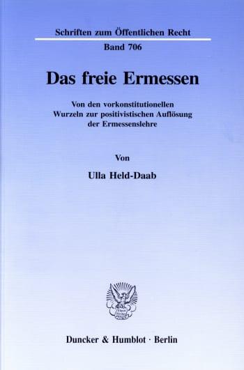 Cover: Das freie Ermessen