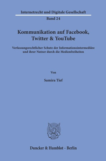 Cover: Kommunikation auf Facebook, Twitter & YouTube