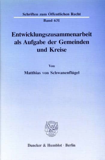 Cover: Entwicklungszusammenarbeit als Aufgabe der Gemeinden und Kreise