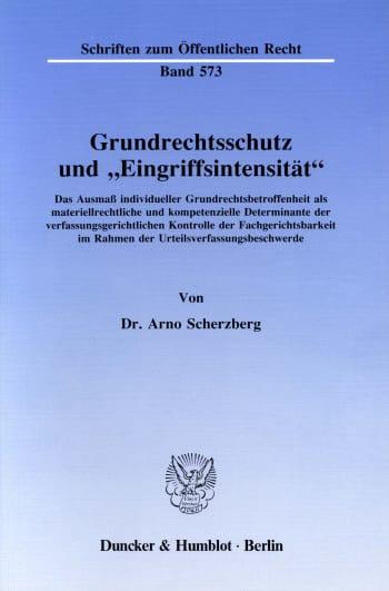 """Cover: Grundrechtsschutz und """"Eingriffsintensität"""""""