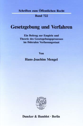 Cover: Gesetzgebung und Verfahren