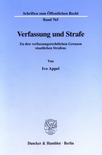 Cover: Verfassung und Strafe