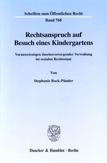 Cover: Rechtsanspruch auf Besuch eines Kindergartens