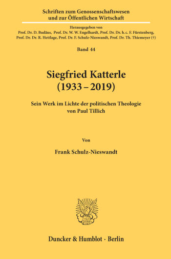 Cover: Siegfried Katterle (1933–2019)