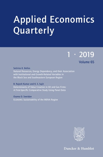 Cover: Applied Economics Quarterly (AEQ)