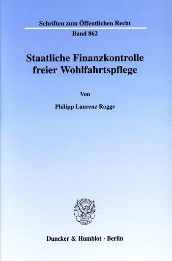Cover: Staatliche Finanzkontrolle freier Wohlfahrtspflege