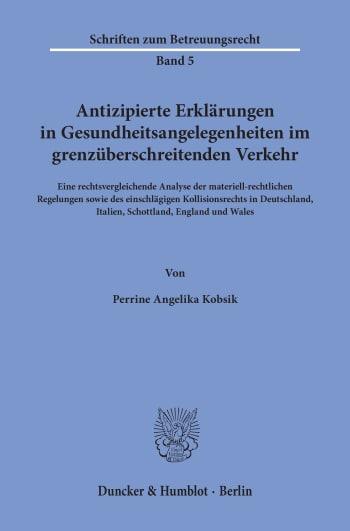 Cover: Schriften zum Betreuungsrecht (SBR)