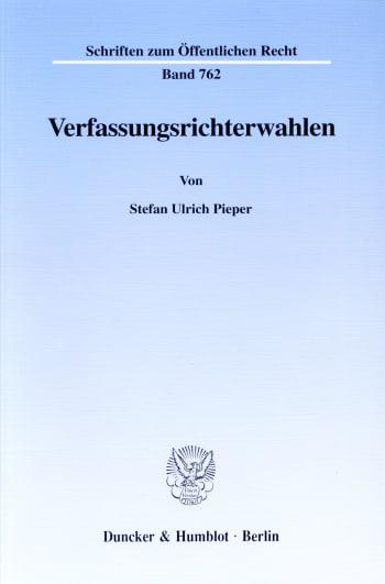 Cover: Verfassungsrichterwahlen