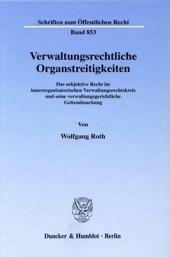 Cover: Verwaltungsrechtliche Organstreitigkeiten