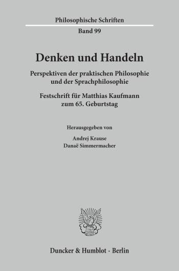 Cover: Denken und Handeln