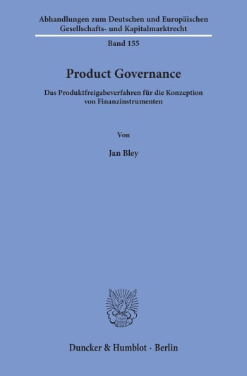 Cover: Product Governance