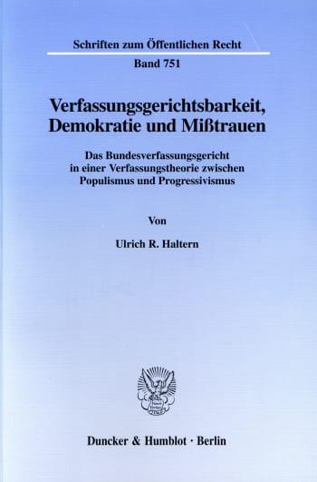 Cover: Verfassungsgerichtsbarkeit, Demokratie und Mißtrauen