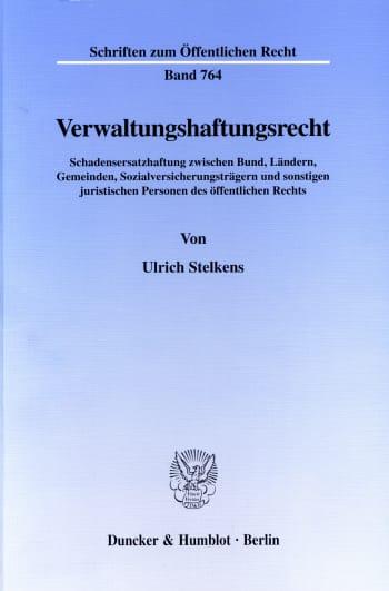 Cover: Verwaltungshaftungsrecht