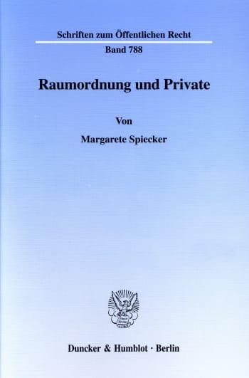 Cover: Raumordnung und Private