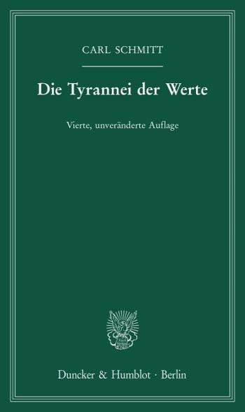 Cover: Die Tyrannei der Werte