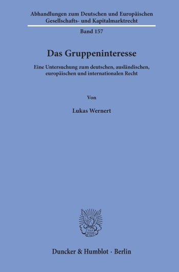 Cover: Das Gruppeninteresse