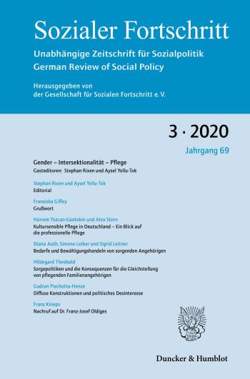 Cover: Gender – Intersektionalität – Pflege