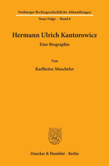 Cover: Hermann Ulrich Kantorowicz