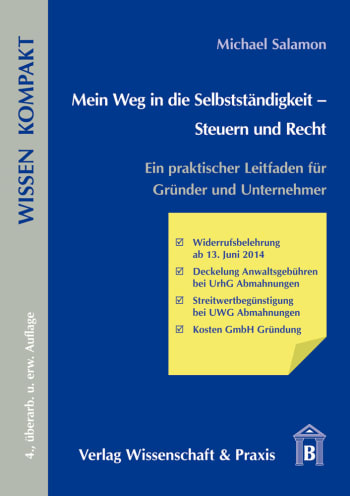 Cover: Mein Weg in die Selbstständigkeit – Steuern und Recht