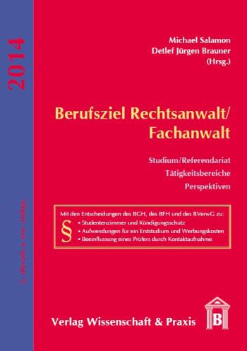 Cover: Berufsziel Rechtsanwalt/Fachanwalt
