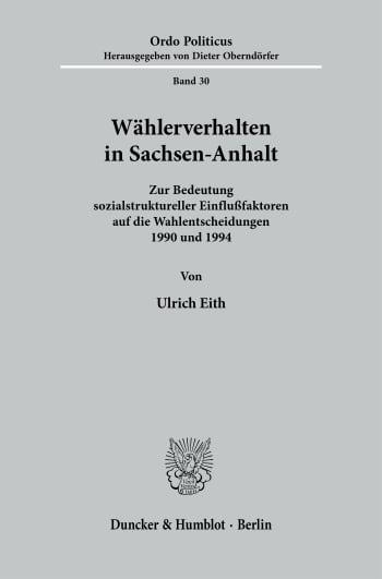Cover: Wählerverhalten in Sachsen-Anhalt