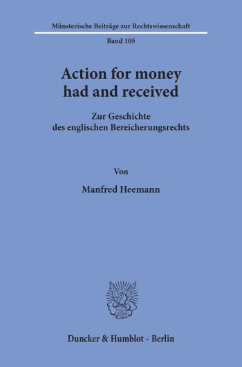 Cover: Action for money had and received