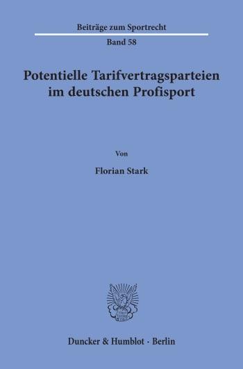 Cover: Potentielle Tarifvertragsparteien im deutschen Profisport