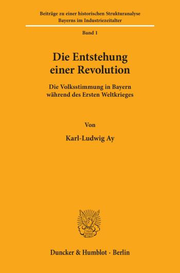 Cover: Die Entstehung einer Revolution