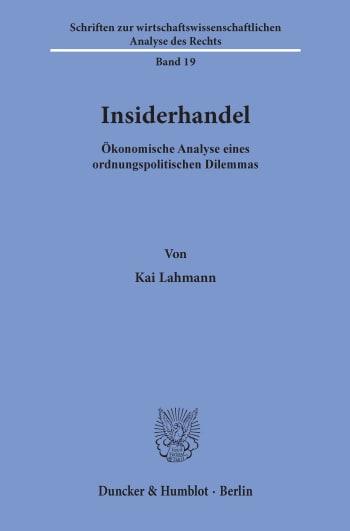 Cover: Insiderhandel