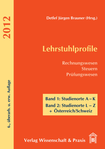 Cover: Lehrstuhlprofile 2012