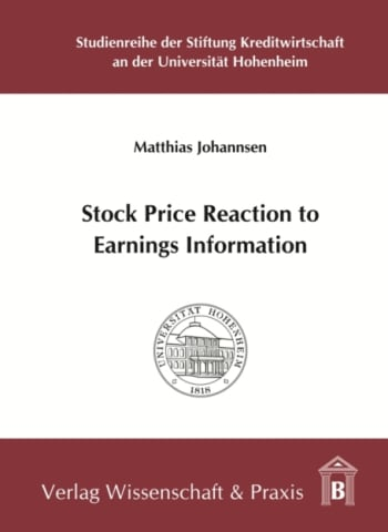 Cover: Stock Price Reaction to Earnings Information