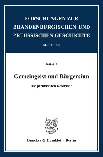 Cover: Gemeingeist und Bürgersinn