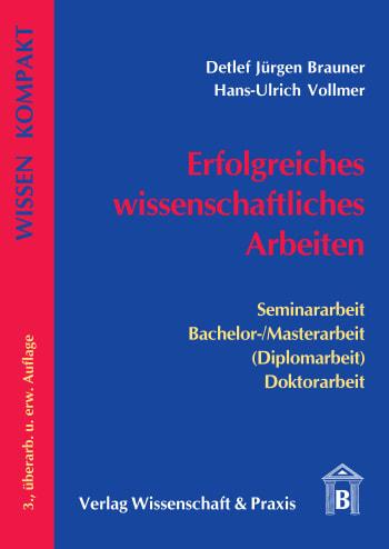 Cover: Erfolgreiches wissenschaftliches Arbeiten