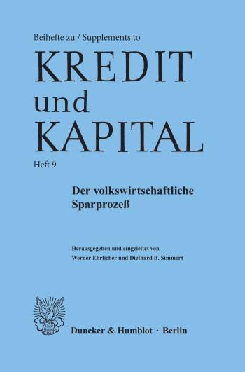 Cover: Der volkswirtschaftliche Sparprozeß