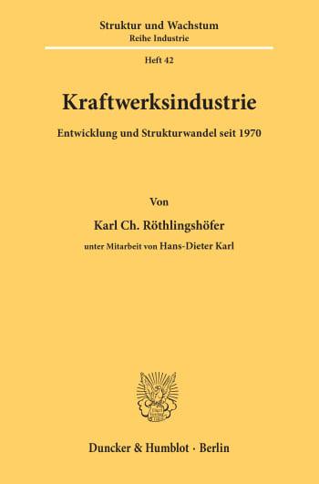 Cover: Kraftwerksindustrie
