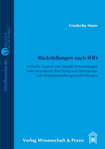 Cover: Rückstellungen nach IFRS