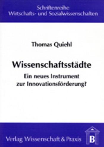 Cover: Wissenschaftsstädte
