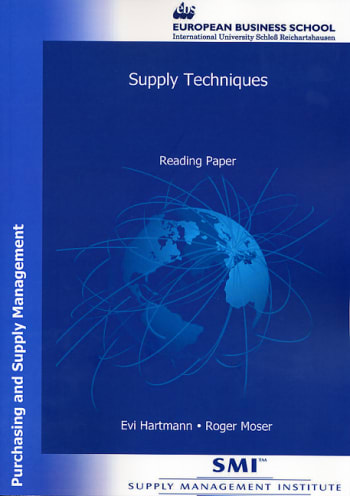 Cover: Supply Techniques