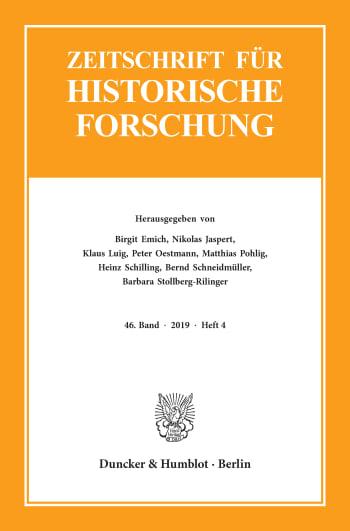 Cover: Zeitschrift für Historische Forschung (ZHF)