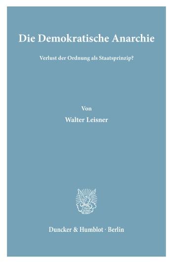 Cover: Die Demokratische Anarchie