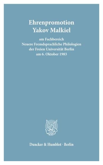 Cover: Freie Universität Berlin - Universitätsreden (FU REDEN)