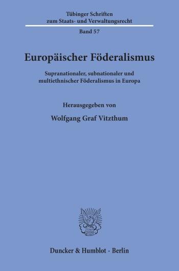 Cover: Europäischer Föderalismus