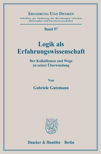 Cover: Logik als Erfahrungswissenschaft