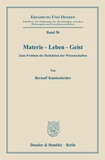 Cover: Materie - Leben - Geist