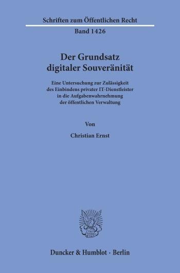Cover: Der Grundsatz digitaler Souveränität