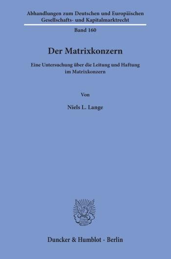 Cover: Der Matrixkonzern