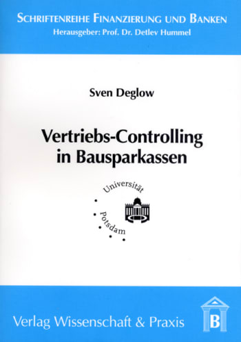 Cover: Vertriebs-Controlling in Bausparkassen