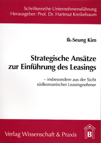 Cover: Strategische Ansätze zur Einführung des Leasings