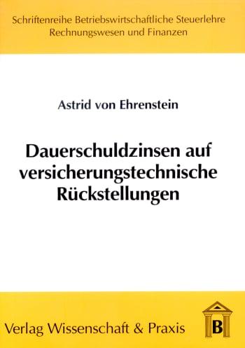 Cover: Dauerschuldzinsen auf versicherungstechnische Rückstellungen